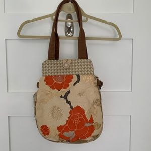 Vintage Obi Belt Tote Bag in Autumn Gold Colours